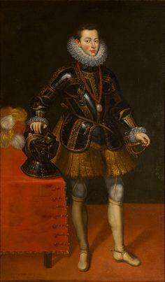 Retrato de jovem nobre, Cavaleiro da Ordem de Calatrava. Atribuído a Juan Pantoja de la Cruz. Séc. XVI (final)-XVII (início). Espanha. Localização: Sala das Galés.