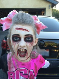 Zombie Cheerleader makeup!!