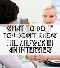 What You Should Do If You're Stumped During an Interview  Get your dream job and we will help you travel the world for little to no money http://recruitingforgood.com/