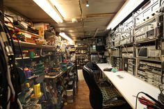 Electronic workshop - a technology crowdfunding project in wigan by Electronics Projects, Electronic Workbench, Ultimate Garage, Diy Workbench, Electronic Engineering, Electrical Engineering, Hobby Room, Electrical Outlets, Garage Workshop