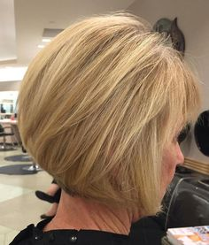 Blonde Bob Hairstyle For Older Women