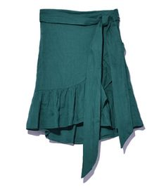 Isabel Marant Étoile: Green 'Dempster' Skirt