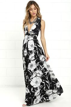 37904bd53c97 40 Best Black and White Maxi Dresses images in 2019