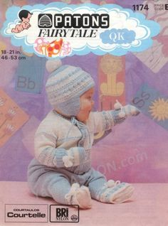 1975 Vintage Patons 1174 Fairytale Baby Set