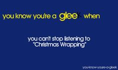 You Know You're A Gleek When... (VERY ACCURATE. Especially this August for some reason.)