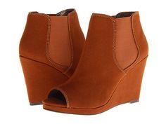 Michael Antonio Carolyn Cognac - 6pm.com I love these peep toed booties!!!  $29.99