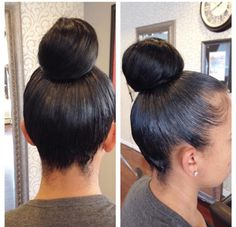 how to make a hair bun with weave
