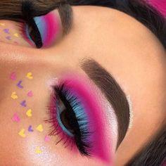 Fabulous Eye Make-up Concepts For You; Smoking Eyes Make-up; Makeup Eye Looks, Eye Makeup Art, Colorful Eye Makeup, Cute Makeup, Eyeshadow Makeup, Maybelline Eyeshadow, Colourpop Cosmetics, Pink Eyeshadow, Eyeshadow Palette