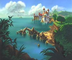 Little Mermaid's Background art