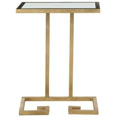 Safavieh Treasures Murphy Gold/ White Top Accent Table |