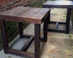 Rustic Modern Wooden Nightstands, Side tables or End Tables Made Reclaimed New Orleans Homes  395$