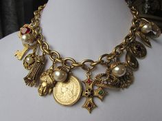 Fabulous - fun - charming retro charm necklace  SOLD