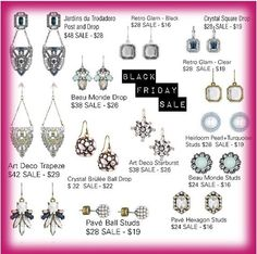 Black Friday Sale!!!! Up to 40 % off select styles starting Thursday 8pm- Sunday!!! Shop my boutique for these awesome deals!! http://www.chloeandisabel.com/boutique/alisonalonzo/6317e7
