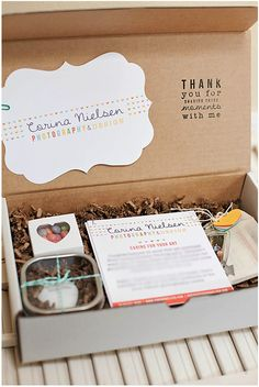 Thank you package from wedding photographer