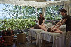 Romantic couple massage on the Palladio Suite Terrace