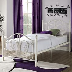 Elegant Traditional Style White Metal Day Bed Daybed Twin Size Frame Free Ships! #Dorel #Traditional