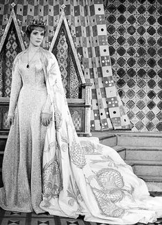 """Julie Andrews in the stage production of """"Camelot"""" ~ Majestic Theatre. Old Celebrities, Celebs, Classic Hollywood, Old Hollywood, Cinema, Julie Andrews, My Fair Lady, Old Movies, Iconic Movies"""