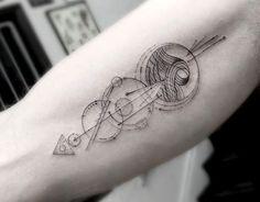 Elegant Fine Line Geometric Tattoos by Dr. Woo | Colossal | Bloglovin'