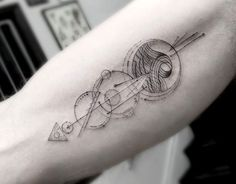 Elegant Fine Line Geometric Tattoos by Dr. Woo | Colossal | Bloglovin'