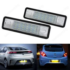 17.85$  Buy now - http://alisjq.shopchina.info/go.php?t=32694571048 - Opel Vauxhall LED Licence Number Plate Light Astra F G Omega Vectra Zafira VX220(CA233)  #aliexpresschina
