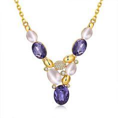 Hoy con el 54% de descuento. Llévalo por solo $18,300.N925-A collar plateado oro del estilo de Bohemia del diamante 24K Checa.