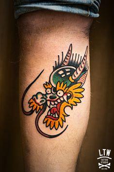 Dragon Tattoo done at LTW Tattoo Barcelona #ltwtattoo #tattoo #norteone