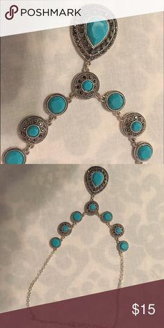 Blue necklace. Brand new necklace. Never been worn! Jewelry Necklaces
