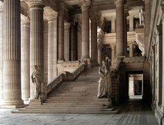 The grand staircase of the Law Courts of Brussels, Belgium