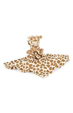 Free shipping and returns on Jellycat 'Giraffe Soother' Blanket at Nordstrom.com. A sweet, cuddly giraffe snuggles one corner of a plush, wonderfully soft blanket.