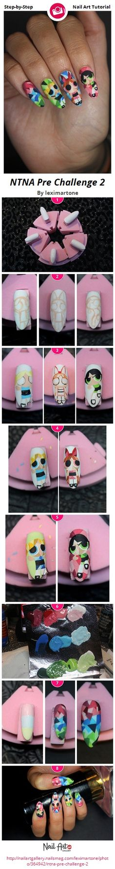 The Powerpuff Girls - Next Top Nail Artist Pre Challenge 2 by leximartone from Nail Art Gallery girls nails, top nail, girl nail, pretti nail, nail artist, nail arts, nail design, nail artnail, artnail polish