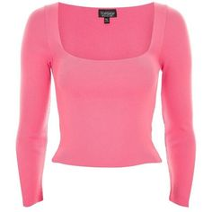 Women's Topshop Split Sleeve Crop Sweater ($40) ❤ liked on Polyvore featuring tops, sweaters, cropped sweater, sleeve top, long-sleeve crop tops, square neck crop top and ribbed knit top