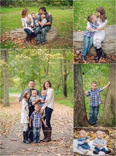Beautiful family takes fall photos in Mingo Creek Park with Pittsburgh Family Photographer