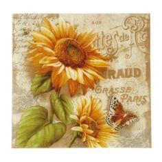 Pfaltzgraff+Sunflower+14.75-in.+Square+Serving+Platter