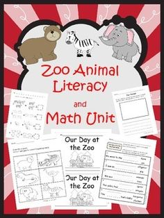 Zoo Animal Literacy and Math Unit - 42 pages - Your students will LOVE learning reading, writing, and math with this zoo theme. Take a look! $