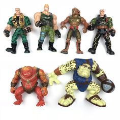 Small Soldiers 4 movie action figures new Flatchoo Archer Brick Bazooka Chip Haz Small Soldiers, Archer, Action Figures, Brick, Chips, Geek Stuff, Toys, Movies, Star Wars