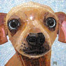 Donna Van Hooser puppy mosaic art