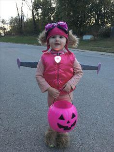 DIY toddler Paw Patrol Skye costume