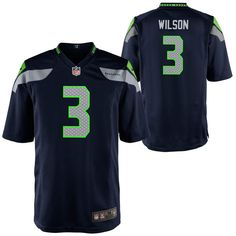 Preschool Seattle Seahawks Russell Wilson Nike College Navy Game Jersey