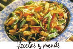 Fritura china de verduras