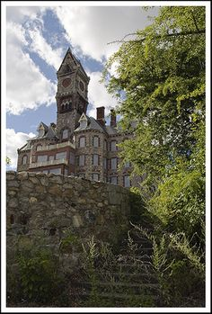 Worcester Insane Asylum.  Now Worcester state hospital where I will be doing some of my inpatient rotations!!!!... If I can ever stop staring at that clock tower, that is.