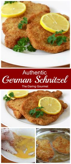 German Schnitzel Learn how to make Authentic German Pork Schnitzel the way your favorite German restaurants make them!Learn how to make Authentic German Pork Schnitzel the way your favorite German restaurants make them! Schnitzel Recipes, Pork Schnitzel, Pork Chop Recipes, Meat Recipes, Cooking Recipes, German Food Recipes, German Recipes Dinner, Rabbit Recipes, Cooking Games