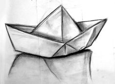 New origami boat sketch 56 ideas Origami Tattoo, Tattoo Paper, Boat Drawing, Ship Drawing, Human Face Sketch, Baby Feet Tattoos, Pair Tattoos, Sailing Tattoo, Boat Sketch