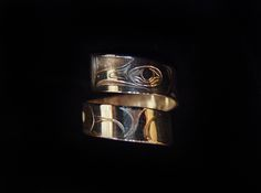 Raven Ring, Sheldon Williams. Handcarved sterling silver, wrap style. Northwest Coast First Nations Jewelry.