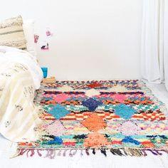 Bohemian boucherouite rug
