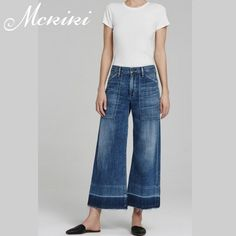 (59.80$)  Watch here  - The same paragraph Citizens of Humanity women in the waist nine loose loose wide leg pants wrinkled cat to be washed jeans