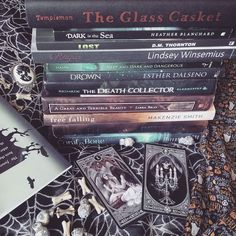 """I was supposed to upload my poem made of spines a couple days ago but I didn't have time. It's a bit long but here it is!: The Glass Casket """"Dark is the sea lost Reaper. Deep and dark and dangerous. Drown the death collector. A great and terrible beauty free falling the space between coral and bone."""" #aprilwiththealliance I have another one to show you guys. It's a little bit lighter than this one What do you guys think?? by thebookishcrypt"""