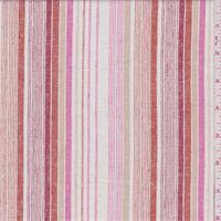 White/Pink Stripe Linen