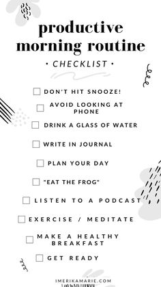 how to have a productive morning that will set you up for the perfect day. learn how to create a morning routine for success. Morning Routine Checklist, Beauty Routine Checklist, Healthy Morning Routine, Morning Habits, Morning Routines, Daily Routines, Beauty Routines, Routine Planner, Morning Routine For School