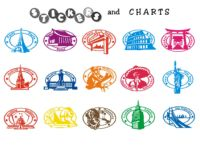 Free printable flags and country stickers, states stickers and passport city stamps stickers.