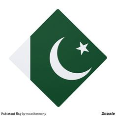 Shop Pakistani flag graduation cap topper created by maxiharmony. Graduation Cap Toppers, Pakistani, First Love, Flag, Make It Yourself, Prints, First Crush, Puppy Love, Science